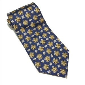 Christian Dior Blue/Gold Tie - 100%silk 56Lx4W